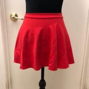 NWT Capezio red dance skirt